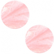 Polaris cabochon plat 12mm Mosso shiny Pastel coral pink