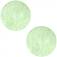 Polaris cabochon plat 12mm Mosso shiny Pastel green