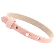 Cuoio armbanden nubuck leer 8 mm voor 12 mm cabochon Light coral pink
