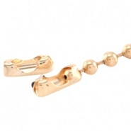 Basic Quality metaal eindkapje/slotje voor ball chain 3mm Light rose gold