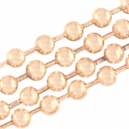 Basic Quality metaal ball chain 2mm Light rose gold