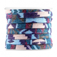 Aztec plat 5mm Multicolor light blue purple