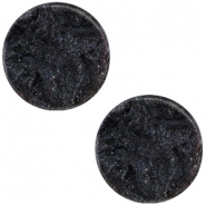 Cabochon Polaris Jais plat 12mm Black