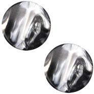 Cabochon Polaris Perseo plat 12mm Black silver