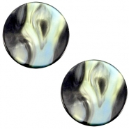 Cabochon Polaris Perseo plat 7mm Antracite blue