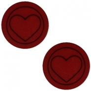 Cabochon Polaris hart plat 12mm matt Port red