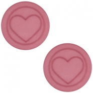 Cabochon Polaris hart plat 20mm matt Antique pink