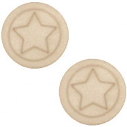 Cabochon Polaris ster plat 12mm matt Light taupe