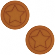 Cabochon Polaris ster plat 20mm matt Amber brown