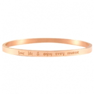 Quote armbanden thin Rose gold