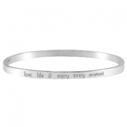 Quote armbanden thin Zilver