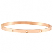 Armbanden stainless steel diamonds Rose gold