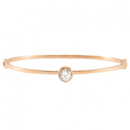 Armbanden diamond stainless steel Rose gold