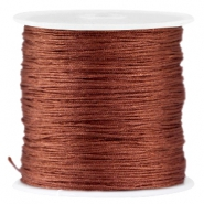 Macramé satijndraad 0.8 mm Brown