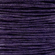 Waxkoord 1.0mm Dark Purple