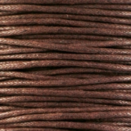 Waxkoord 1.5 mm Chocolate brown
