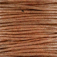 Waxkoord 1.5 mm Dark copper brown