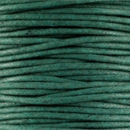 Waxkoord 1.5 mm Dark emerald green