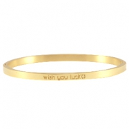 Quote armbanden thin Goud
