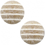 Cabochon Polaris Koron matt crushed ice 20mm Beige bruin wit