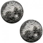 Cabochon Polaris Perseo matt crushed ice 20mm Black silver