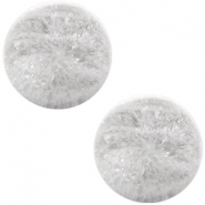 Cabochon Polaris Perseo matt crushed ice 12mm White grey