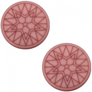 Cabochon Polaris Winter star plat 20mm matt Antique pink