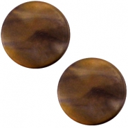 Cabochon Polaris Perseo plat 12mm matt Black gold