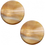 Cabochon Polaris Perseo plat 20mm matt Grey topaz