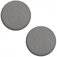 Cabochon Polaris plat 20mm matt Stormy silver grey