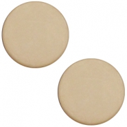 Cabochon Polaris plat 12mm matt Light taupe