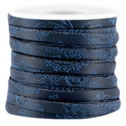 Trendy barok plat koord 5mm Midnight blue