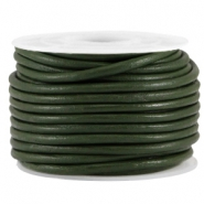 DQ leer rond 3mm Army green