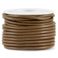 DQ leer rond 3mm Brown