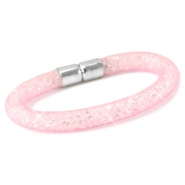Armbanden met kristal facet Light rose - crystal