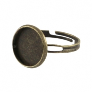 Metalen ring voor cabochon 12mm Brons