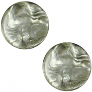 Polaris cabochon Jais plat 20mm Agave green