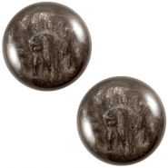 Polaris cabochon Jais 20mm Dark brown