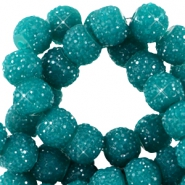 Sparkling beads 6mm Teal green
