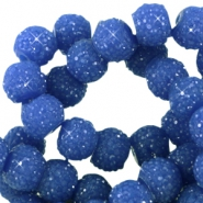 Sparkling beads 8mm Cobalt blue