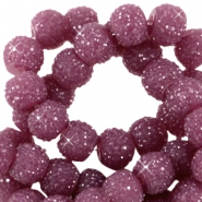 Sparkling beads 6mm Aubergine purple