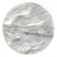 Cabochon Polaris Jais plat 35mm Grey