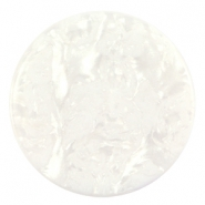 Cabochon Polaris Jais plat 35mm Wit beige
