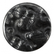 Cabochon Polaris Perseo plat 35mm shiny Black  anthracite