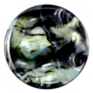 Cabochon Polaris Perseo plat 35mm shiny Black turquoise