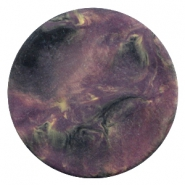 Cabochon Polaris Perseo plat 35mm matt Black violet