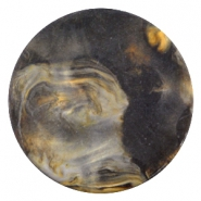 Cabochon Polaris Perseo plat 35mm matt Black gold