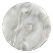 Cabochon Polaris Perseo plat 35mm matt White grey