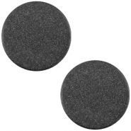 Polaris cabochon soft tone plat 12mm matt Black