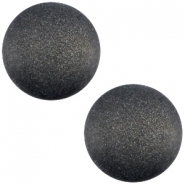 Polaris cabochon soft tone 20mm matt Black